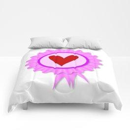 Love Heart Rosette Comforters