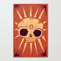yetiland Canvas Prints featuring sugar skull by Yetiland