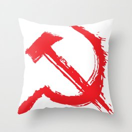 The hammer and sickle  Throw Pillow