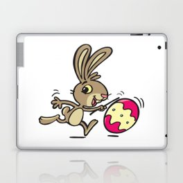 Easter bunny and rolling Easter egg Laptop & iPad Skin