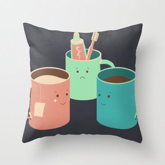 Mugs Throw Pillow