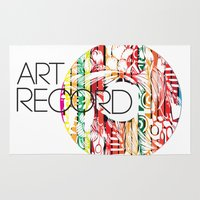 record Area & Throw Rugs featuring Art Record by kartalpaf