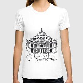 Palacio de Bellas Artes. Vista frontal.  T-shirt