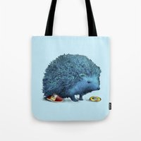 sonic Tote Bags featuring Sonic by Eric Fan