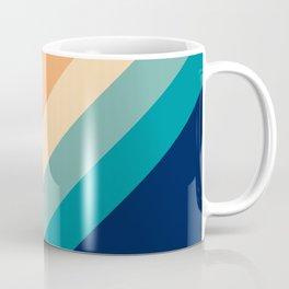 Classic Colorful Retro 70s Vintage Style Stripes - Farida Coffee Mug