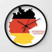 germany Wall Clocks featuring Germany by ptrlng