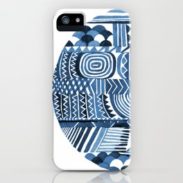 Circle Pattern Blue iPhone Case