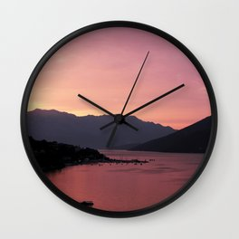 Bay of Kotor View - JUSTART (c) Wall Clock