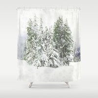 snowboarding Shower Curtains featuring Winter Fresh by Pure Nature Photos