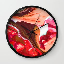 Colour River #5 Wall Clock