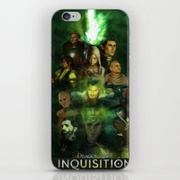 dragon age inquisition iPhone & iPod Skins featuring The Inquisition by Nero749