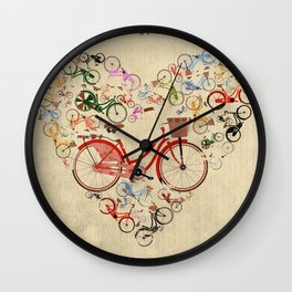 I Love My Bike Wall Clock