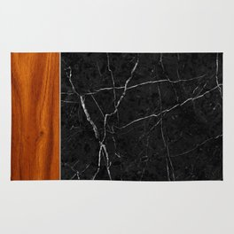 Marble and Wood Rug