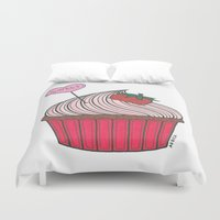 cupcake Duvet Covers featuring Cupcake by Afriquita