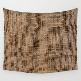 Burlap Grid Wall Tapestry