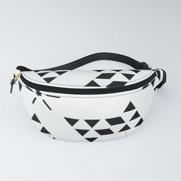 Triangle slide Pattern Fanny Pack
