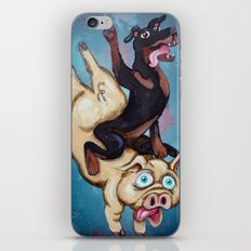 Iggy the Dog Riding the Pig iPhone & iPod Skin