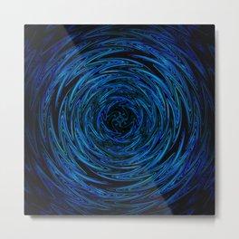 Spinning blue waves Metal Print