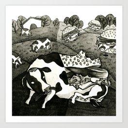 Beef Burgers Art Print