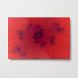 Red Fractal Metal Print