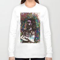 grateful dead Long Sleeve T-shirts featuring Jerry Garcia Watercolor Portrait Grateful Dead by Acorn