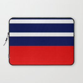 Summer Patio Perfect, Red, White & Navy Laptop Sleeve