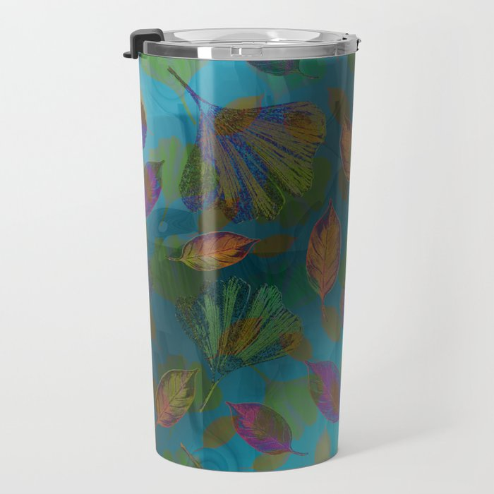 Ginkgo Leaves Under Water Travel Mug