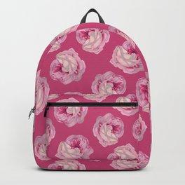 Pink Vintage Rose Pattern Backpack