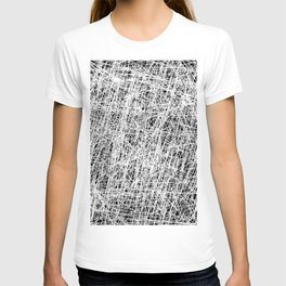 Web Of Confusion - Black and white, abstract painting T-shirt