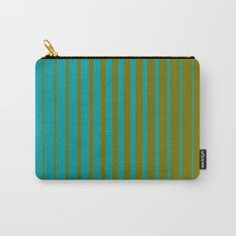 gradient stripes aqua olive Carry-All Pouch
