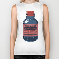 spice Biker Tanks featuring Spice Trade by Brady Terry