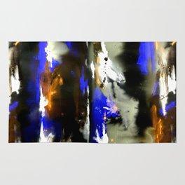 Watercolor Abstract Horizons at Night  Rug