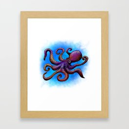 Octopus Doodle Framed Art Print