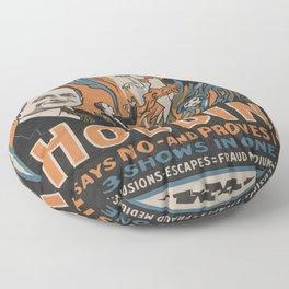 Vintage poster - Houdini - Do Spirits Return? Floor Pillow