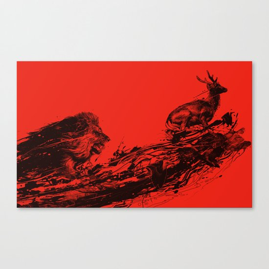 Intense Chasing II Canvas Print