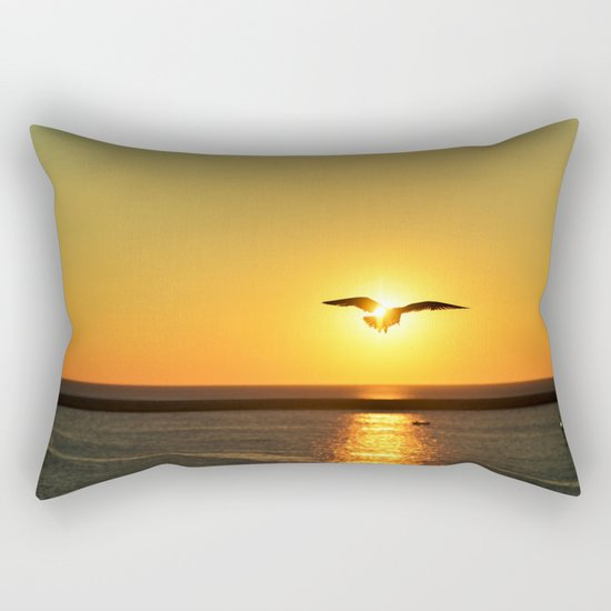 Icarus Vacationing in San Diego, California  Rectangular Pillow