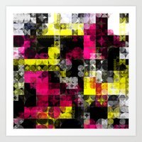 contemporary Art Prints featuring Contemporary Geometric by Idle Amusement