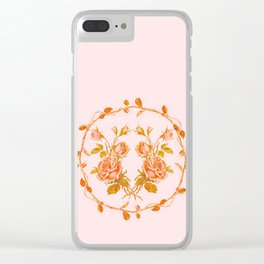 Garland and vintage roses Clear iPhone Case