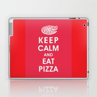 Keep Calm and Eat Pizza Laptop & iPad Skin