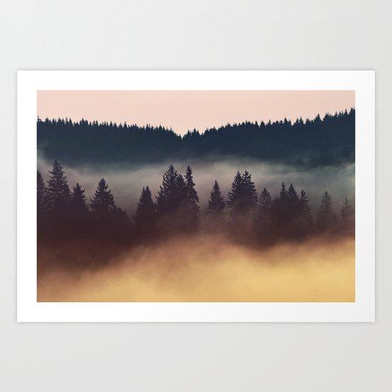 Foggy Layers Art Print