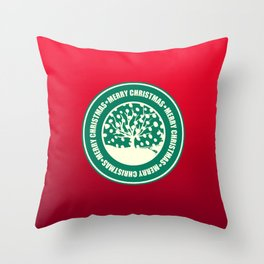"""Merry Christmas"" Coffee Cup Funny Meme Throw Pillow"