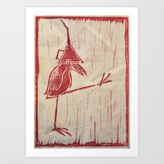 Walk Like A Bird Art Print
