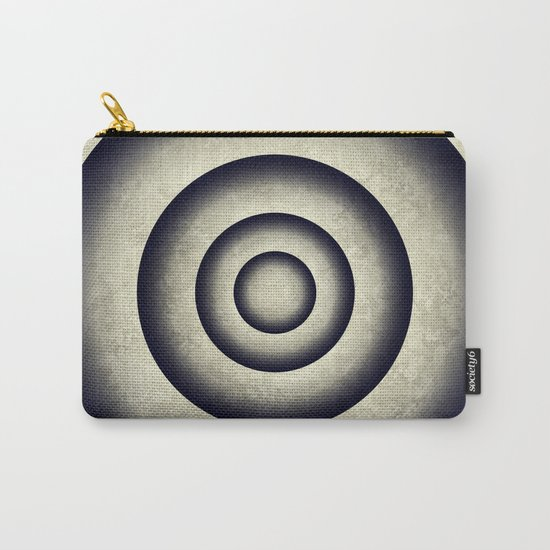 Minimal grunge 3D abstraction Carry-All Pouch