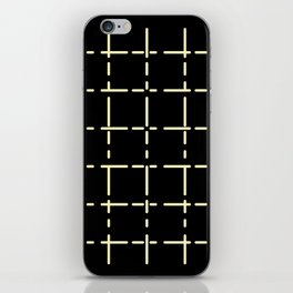 Modern line decor on black background #society6 #decor #buyart #artprint iPhone Skin