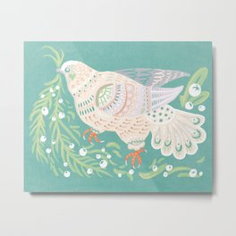Holiday Dove Metal Print