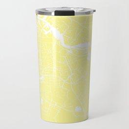 Amsterdam Yellow on White Street Map Travel Mug