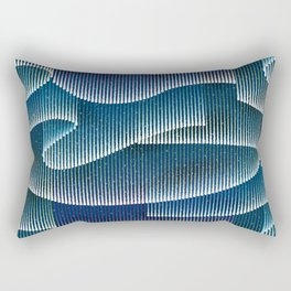 Aurora Borealis_Color Sky Lights Rectangular Pillow