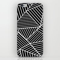 Ab Lines Zoom Black iPhone & iPod Skin