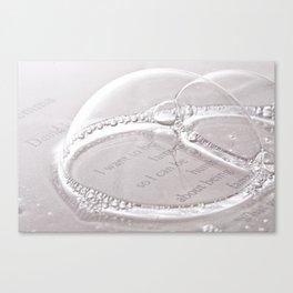 humble bubble Canvas Print