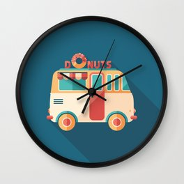Donuts Van Wall Clock